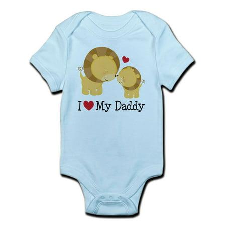 Heart Infant Bodysuit (I Heart My Daddy Infant Bodysuit - Baby Light Bodysuit )