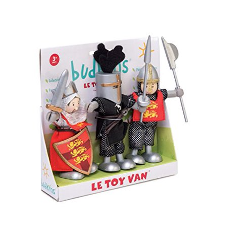 Le Toy Van Budkins Set of 3 crusader Posable Figures Premium Wooden Toys for Kids Ages 3 years  Up - image 1 of 1