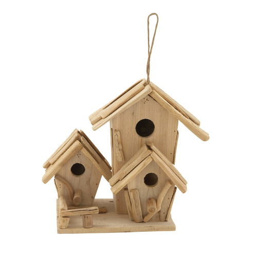 Decmode Driftwood Birdhouse, Multi Color by DecMode