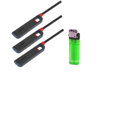 4 Pack Refillable Lighter for Kitchen Camping Grilling BBQ Home Adjustable Flame - By Dealbusterz, Refillable Lighters 1 Disposable Lighter. Disposable.., By Handi Flame