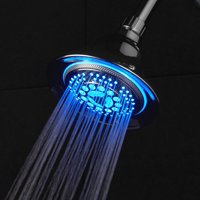 DreamSpa All Chrome Color Changing LED Shower Head (3 Colors)