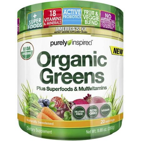 Purely Inspired Organic Greens   Superfoods   Multivitamins Dietary Supplement Protein Powder  9 88 Oz