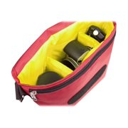 Urban Factory B-Colors - Shoulder bag for digital photo camera with lenses - 1680D nylon - yellow, raspberry