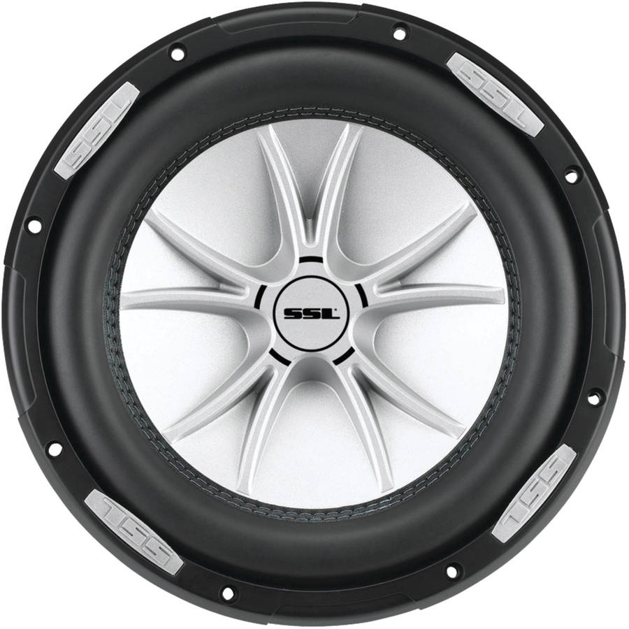 "Soundstorm SLR8DVC SLR Series Dual 4�� Voice-Coil Subwoofer with Polypropylene Cone, 8"", 1,000 Watts"