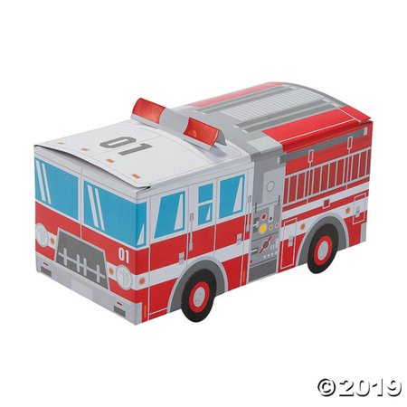 Fire Engine Party (Fire Truck Party Favor Treat Boxes - 12)