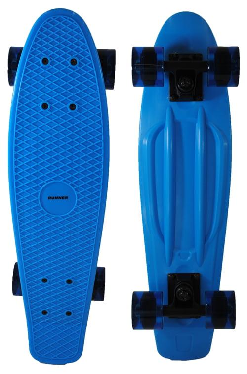 Runner Sports Penny Style Retro Banana Wave Cruiser Skateboard Blue by Runner