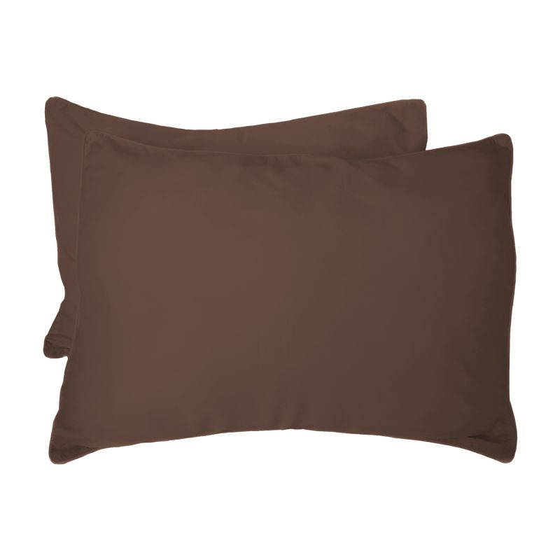 BedVoyage 169808 300 Thread Count 100% Bamboo-Derived Rayon Standard Pillow Sham (Set of 2)