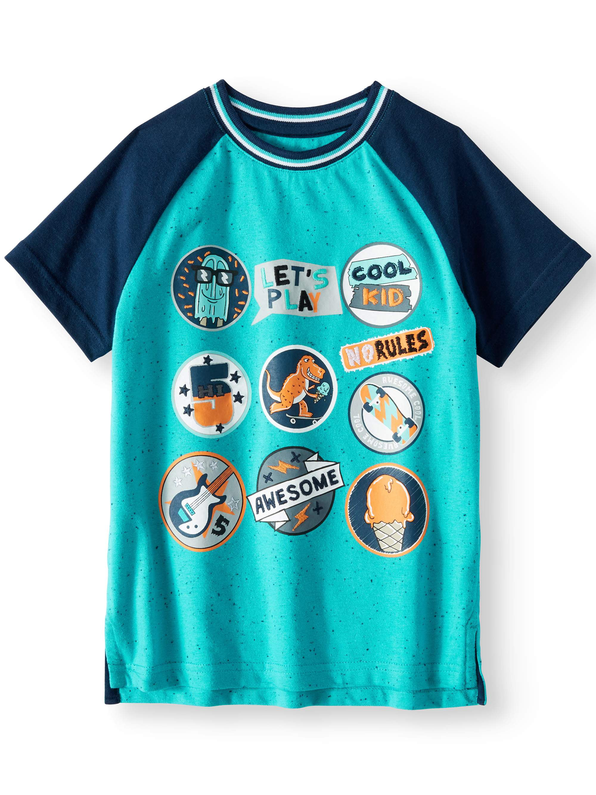 365 Kids from Garanimals Short Sleeve Graphic Raglan Tee (Little Boys & Big Boys)