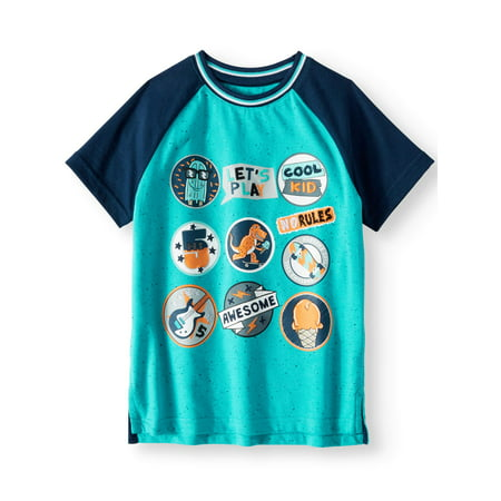 Boys' Short Sleeve Graphic Raglan (Little Kiss)