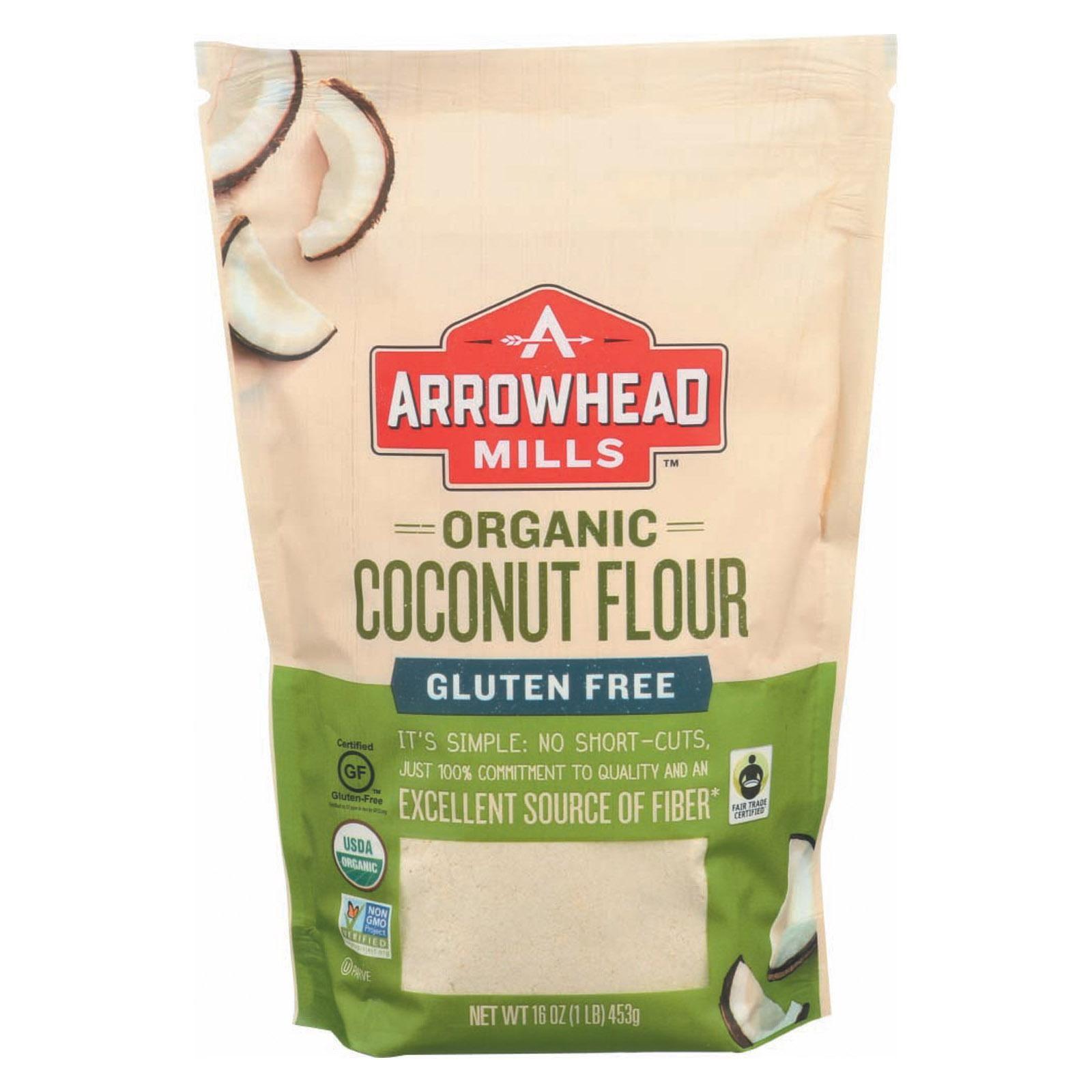 Arrowhead Mills Organic Coconut Flour - pack of 6 - 16 Oz.