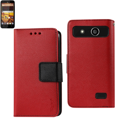 REIKO ZTE SPEED 3-IN-1 WALLET CASE IN RED