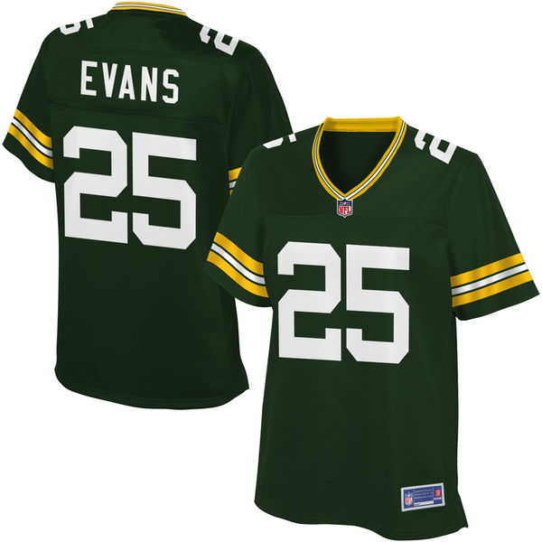 Women's Green Bay Packers Marwin Evans NFL Pro Line Green Player Jersey