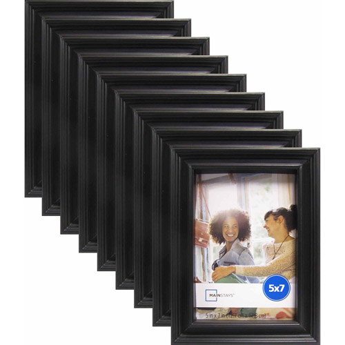 "Mainstays Brooke 5"" x 7"" Black Frame, Set of 9"