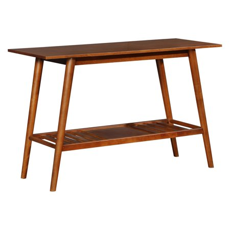 Linon Charlotte Console Table, Brown, with Shelf