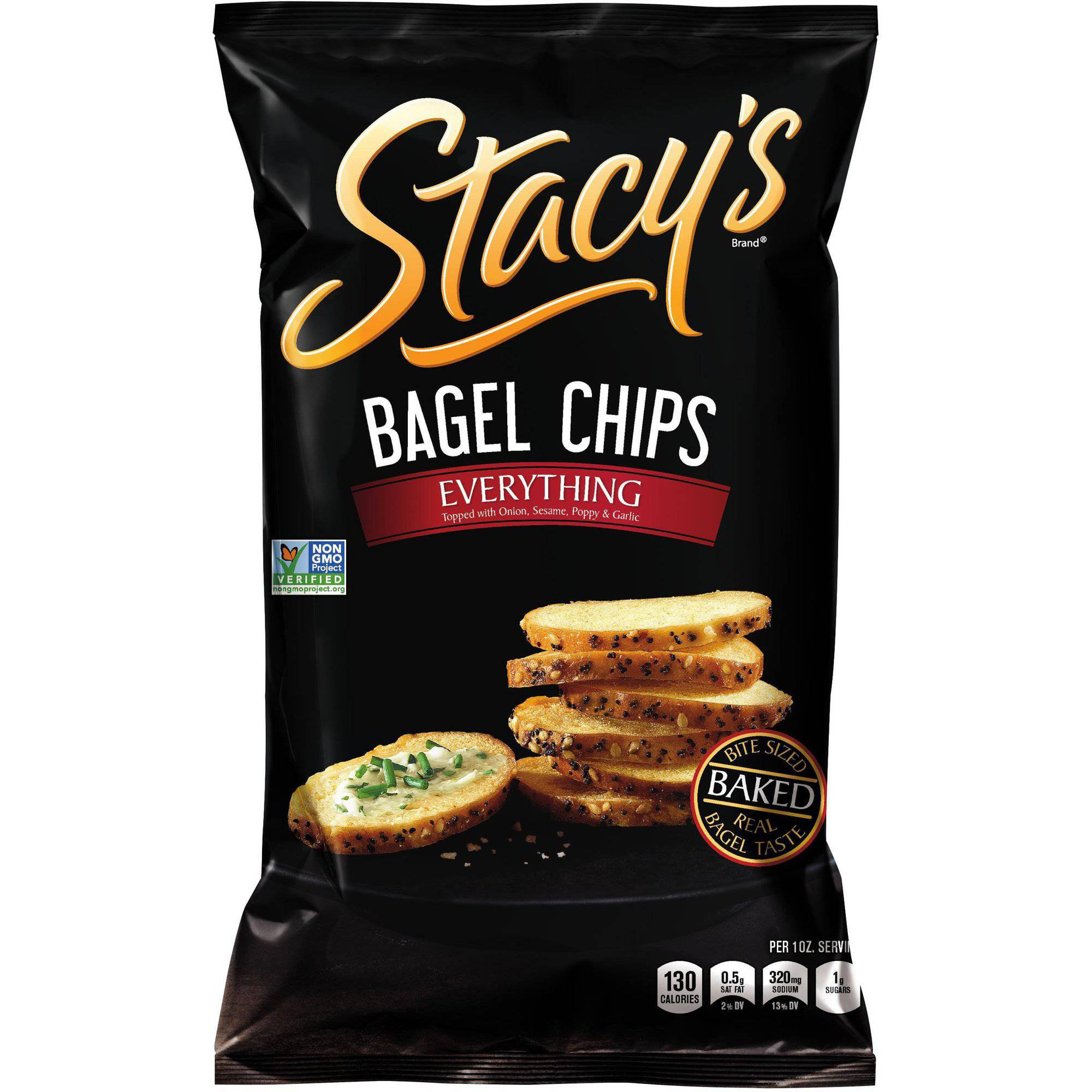 Stacy's Everything Bagel Chips, 8 oz (Pack of 12)