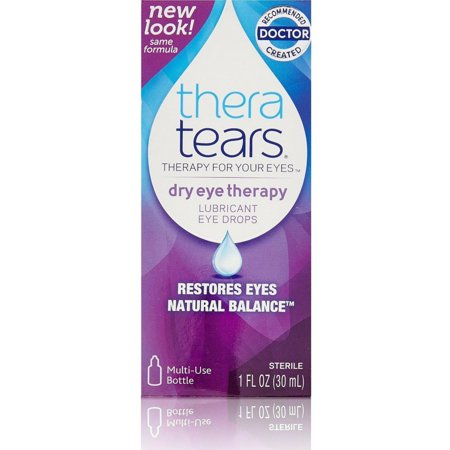 Lubricant Eye Drops, 1 oz (Pack of 3), By Thera Tears