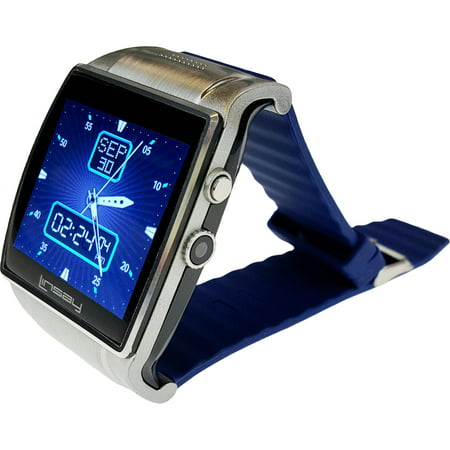 1.5 Executive Smart Watch with Camera and microSD Card Slot up to 64GB, Blue