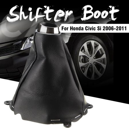 Replacement Black Manual Leather Shift Shifter Boot For shiftshifter Honda Civic Si 2006-2011