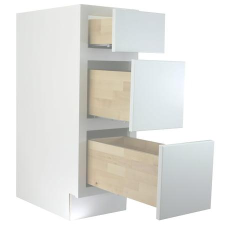 - Cabinet Mania White Shaker 18 Inch Bathroom Vanity Drawer Base