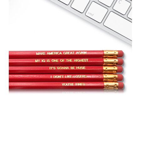 Trump - Inspirational Pencils Engraved With Funny And Motivational Sayings For School And The Office](Funny Pencils)