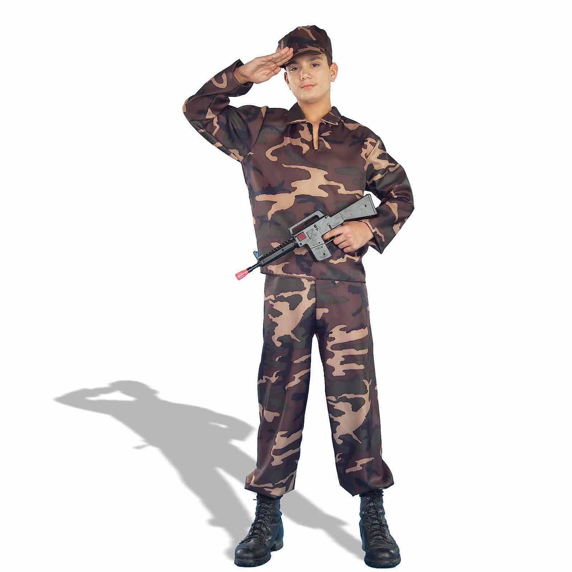 army soldier teen halloween costume walmartcom - Halloween Army Costumes