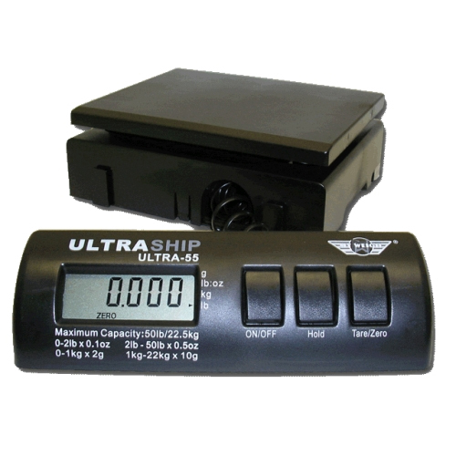 My Weigh Ultraship 55lb Electronic Digital Shipping Postal Scale Black SCMULTRA55B by My Weigh