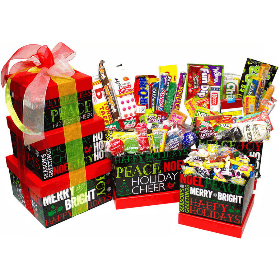 Candy Crate Holiday Chalkboard Nostalgic Candy Gift Tower