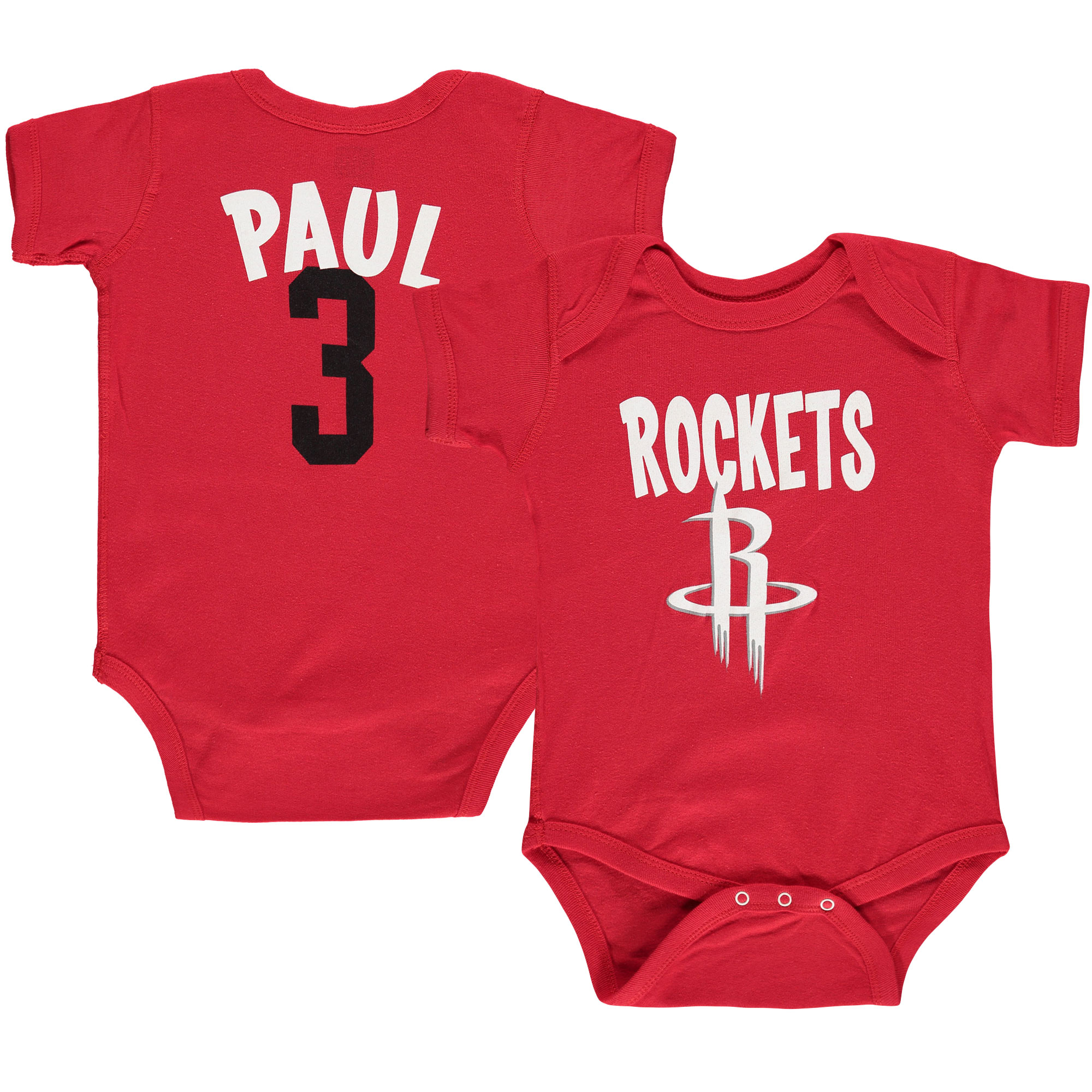 Chris Paul Houston Rockets Infant Name & Number Creeper - Red