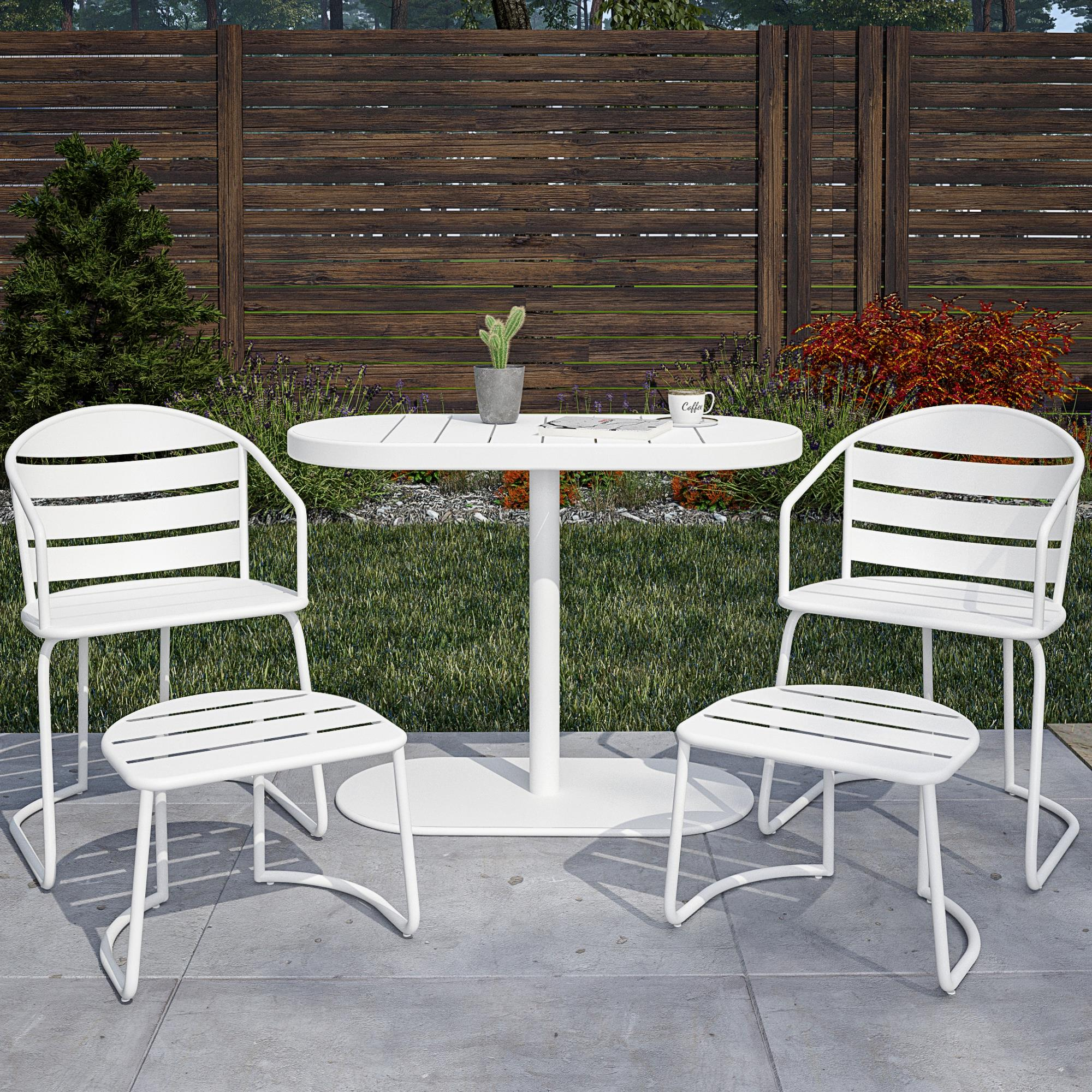 COSCO Outdoor Furniture, 5 Piece Patio Bistro Set, 2 Bistro Chairs