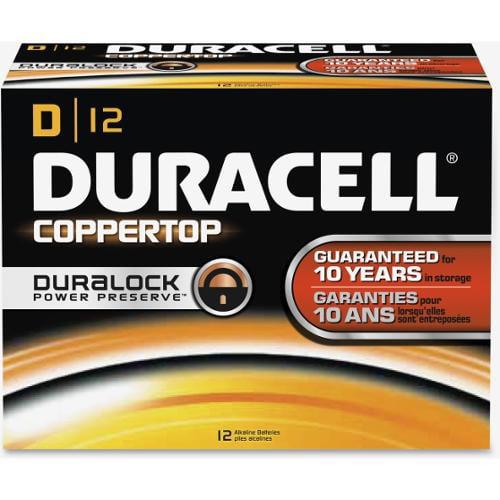 Duracell CopperTop D Batteries - D - Alkaline - 12 / Box