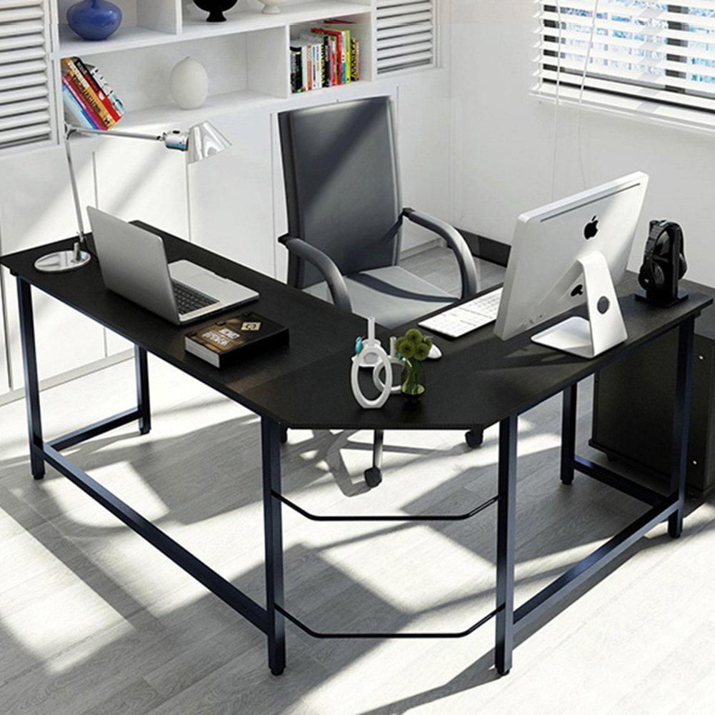 reputable site 0543e e972f Tribesigns Modern L-Shaped Corner Computer Desk, Black