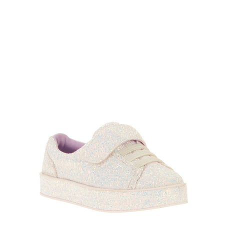 Wonder Nation Toddler Girls' Glitter Casual Court Sneaker