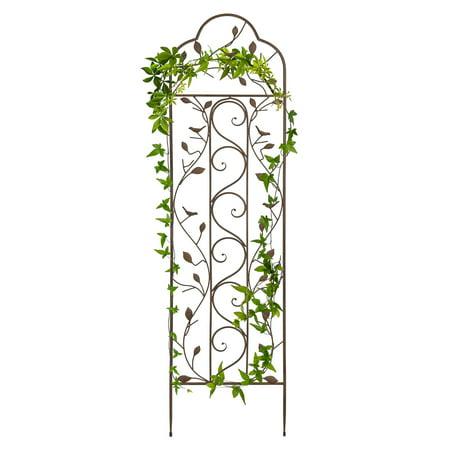 Best Choice Products 5' Iron Arched Garden Trellis - Bronze Country Garden Trellis