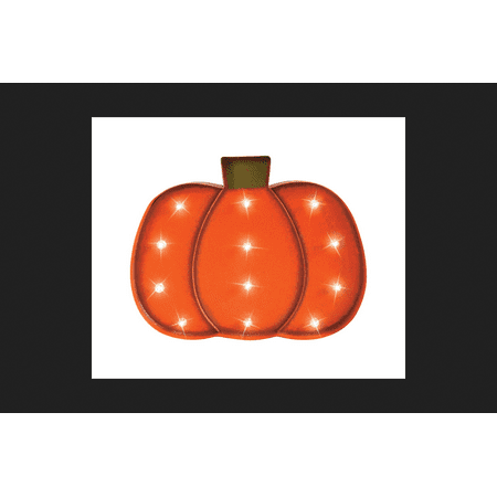 Celebrations LED Pumpkin Lighted Halloween Decoration Orange 1 pk