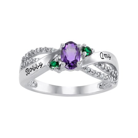 Personalized Women's Germaine Class Ring available in Valadium, Silver Plus, 10kt and 14kt Yellow and White - Walmart Jewelry Class Rings