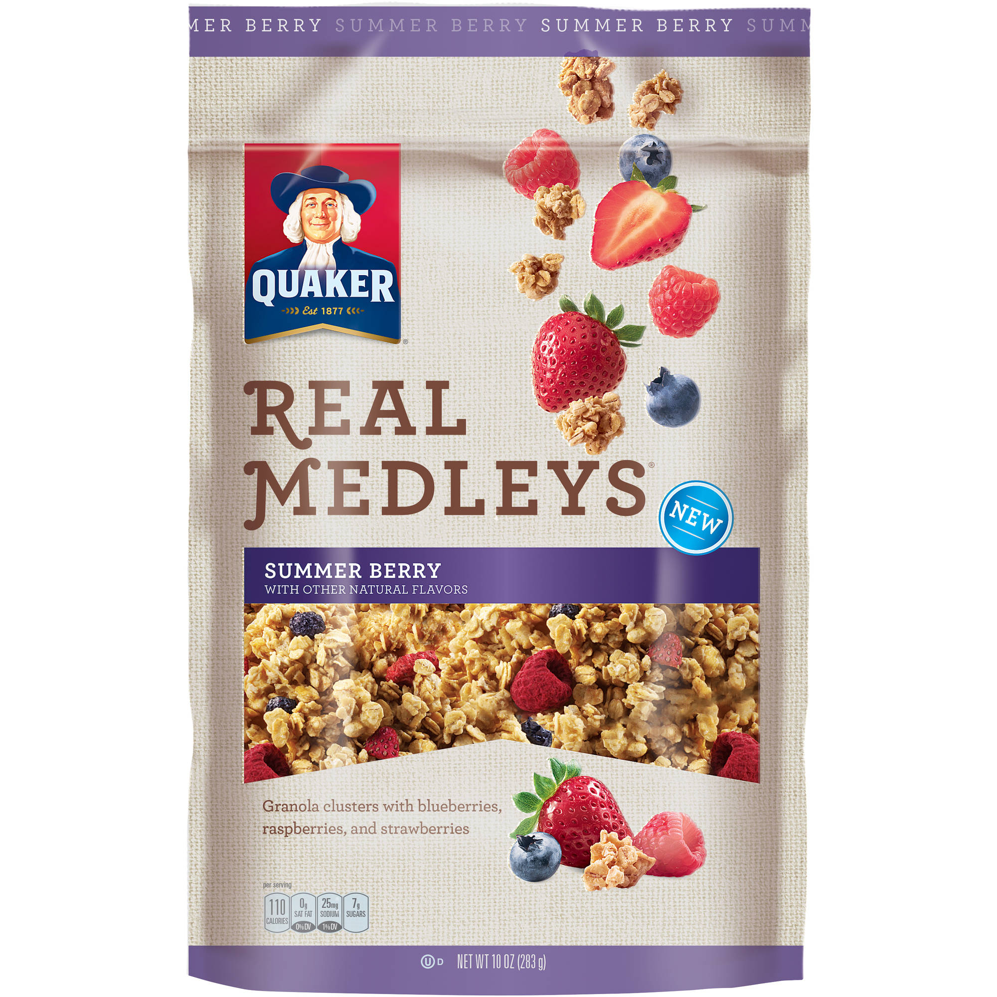 Quaker® Real Medleys® Summer Berry Granola Cereal 10 oz. Pouch