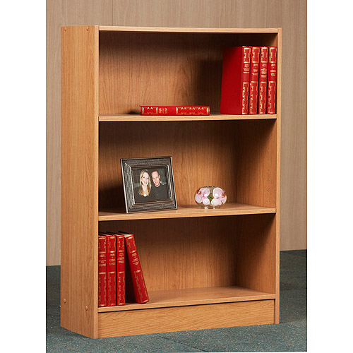 "Orion 36"" 3-Shelf Bookcase, Multiple Finishes"