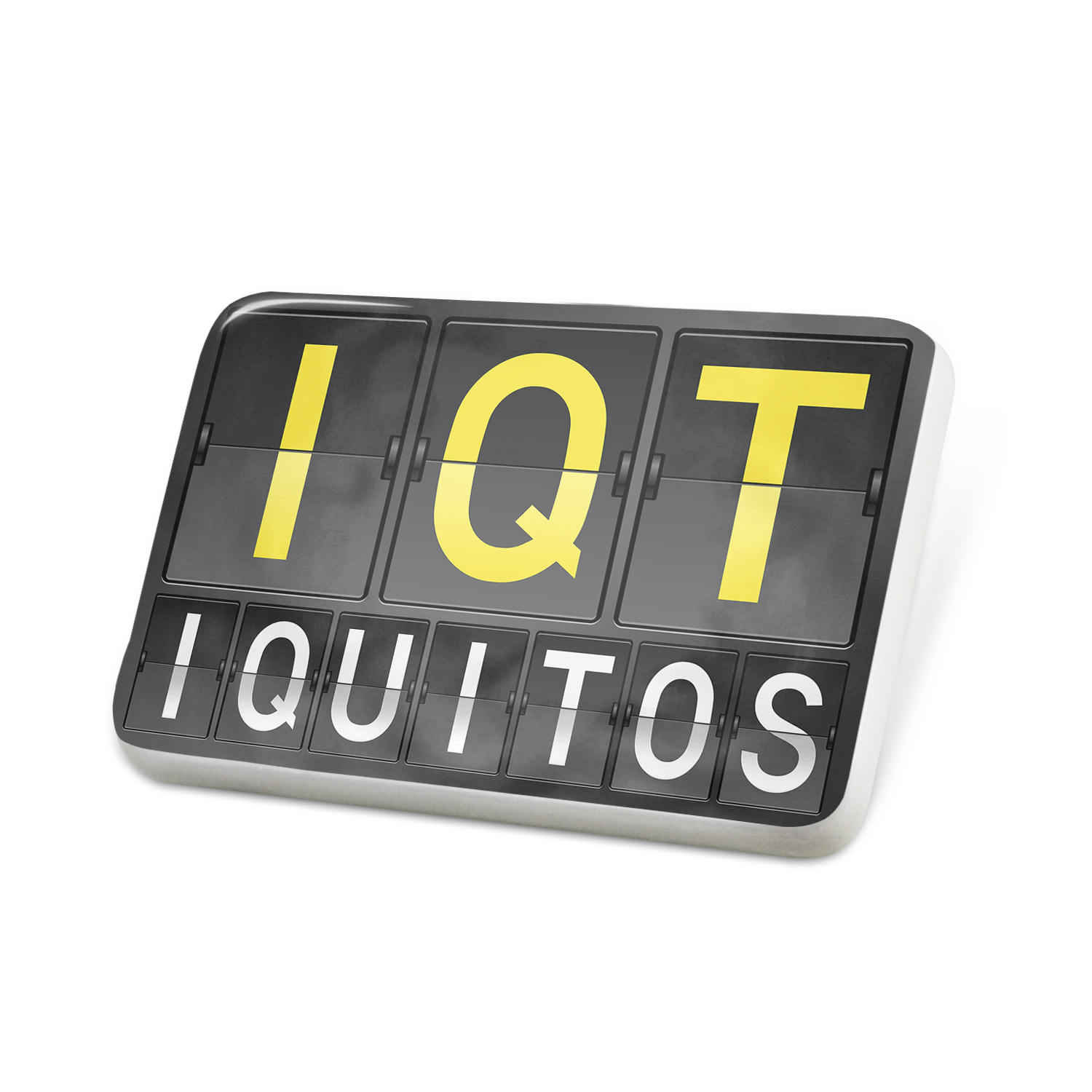 Porcelein Pin IQT Airport Code for Iquitos Lapel Badge – NEONBLOND