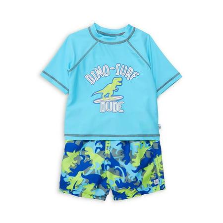 Baby Boy's 2-Piece Rash Guard & Shorts Set (Flapdoodles 2 Piece)