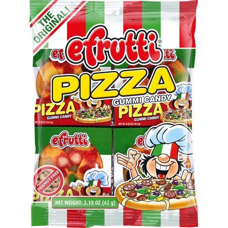 Gummi Pizza ((Price/Pack)Efrutti 250 Candy Gummy Pizza Classic Bag 12-2.2 Ounce )