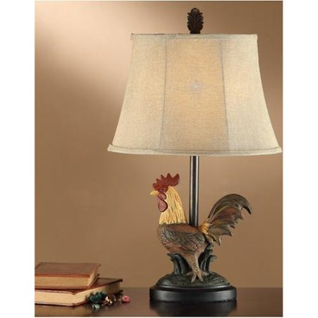 cdecor rooster 24 inch table lamp set of 2. Black Bedroom Furniture Sets. Home Design Ideas
