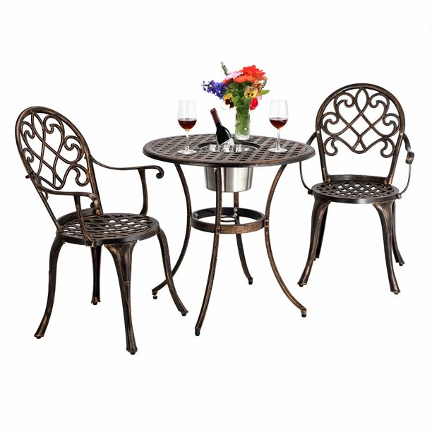 Outdoor 3 Piece Patio Bistro Set