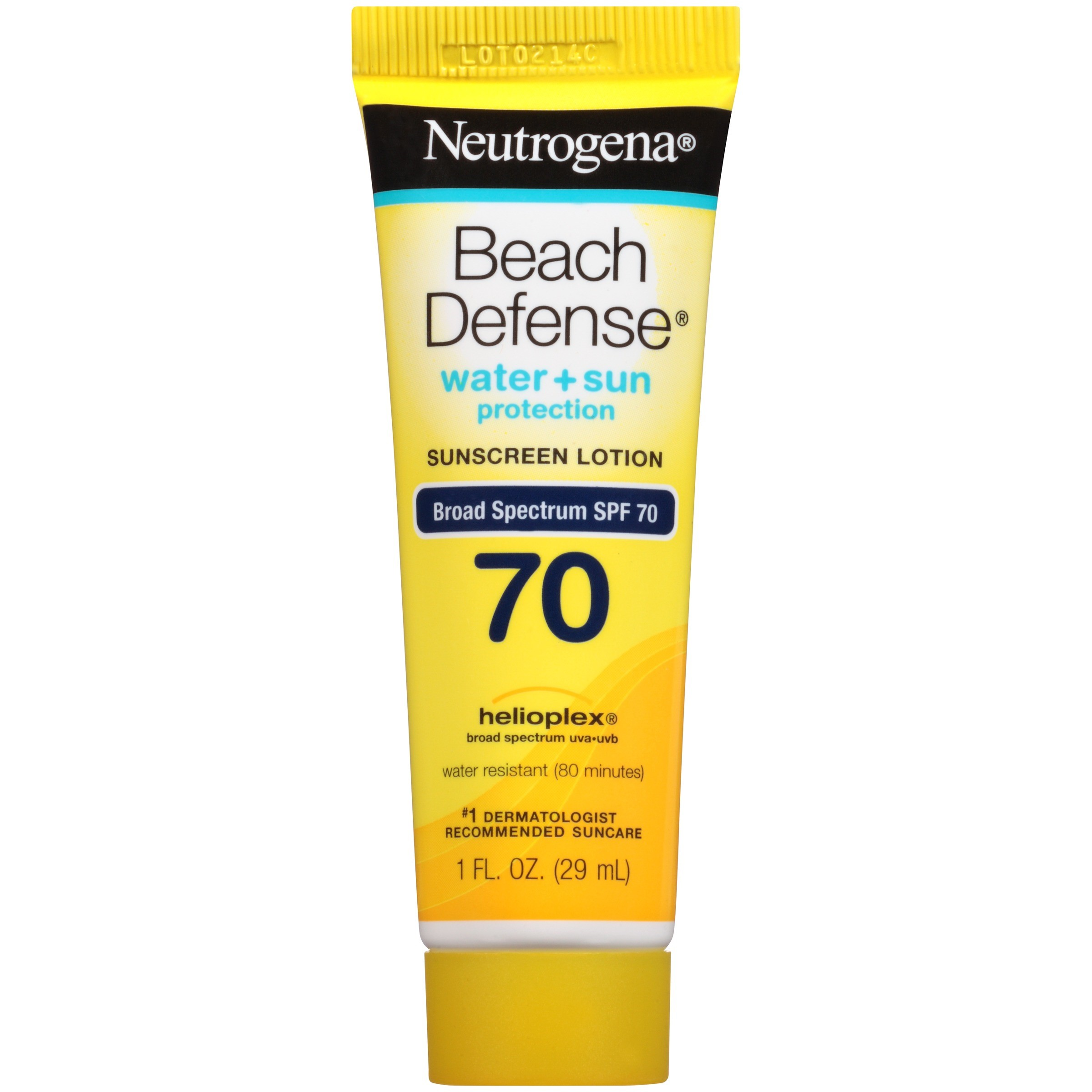 Neutrogena Beach Defense Sunscreen Lotion Broad Spectrum SPF 70, 1 Fl. Oz
