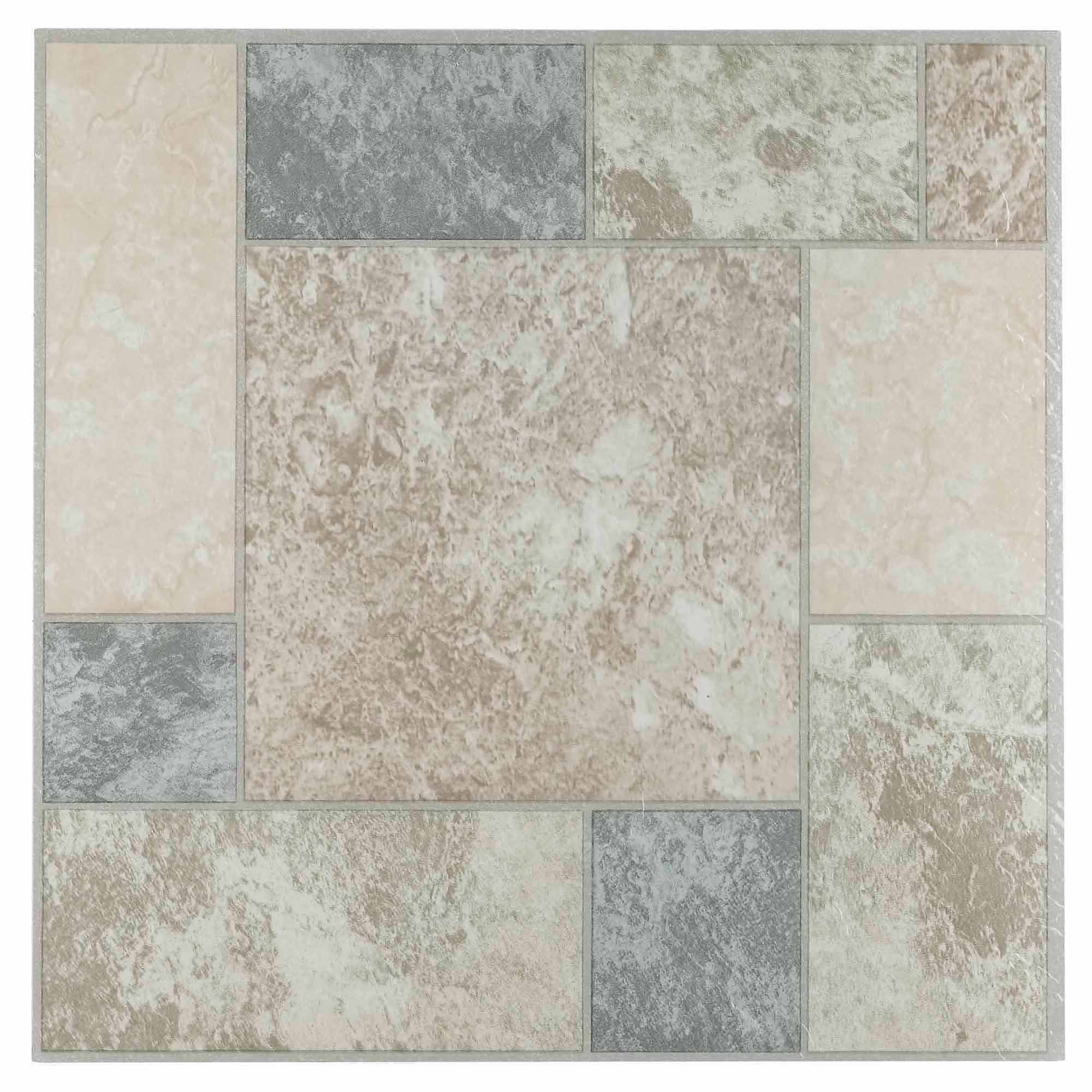 Vinyl flooring walmart nexus marble blocks 12x12self adhesive vinyl floor tile 20 tiles20 sqft dailygadgetfo Gallery