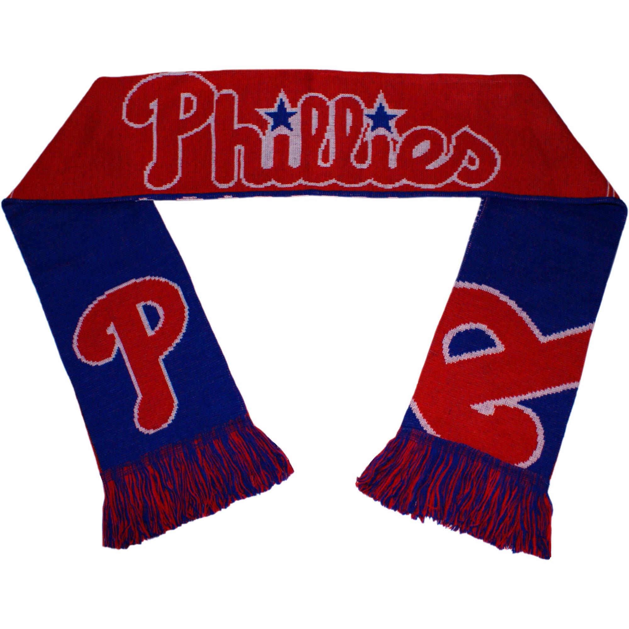 MLB Forever Collectibles Reversible Split Logo Scarf, Philadelphia Phillies