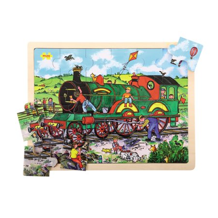 12 Piece Tray Puzzles (Bigjigs Toys 24-Piece Tray Puzzle,)