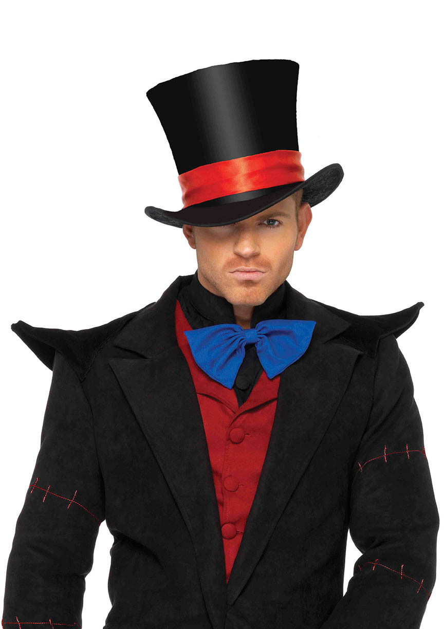 UA2143 Morris Costumes Men/'s 8 Inches Tall Deluxe Velvet Top Hat One Size