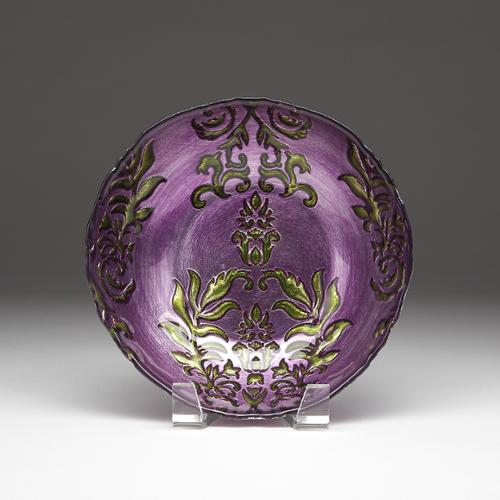Red Pomegranate Gilded Tableware Damask Purple/ Green Bowl