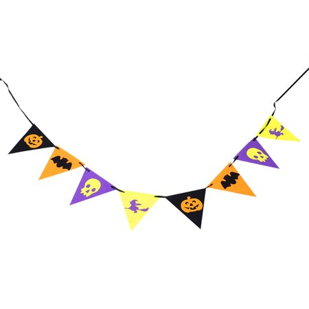 Dilwe Non-woven Funny Flags Bunting for Halloween Party Pub Festival Celebration Decoration Ornament,Bunting, Party - Halloween Harvest Festival Nyc