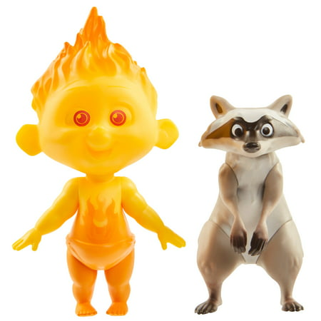 Incredibles 2 Champion Series Action Figures - Jack-Jack & Raccoon - Jack Jack The Incredibles